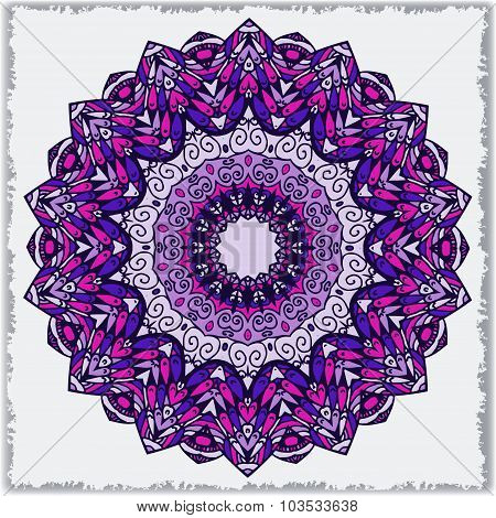 Vector Template With Mandala.  Geometric Background. Card Or Invitation Collection.  Islam, Arabic,