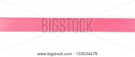 Pink ribbon isolated on white