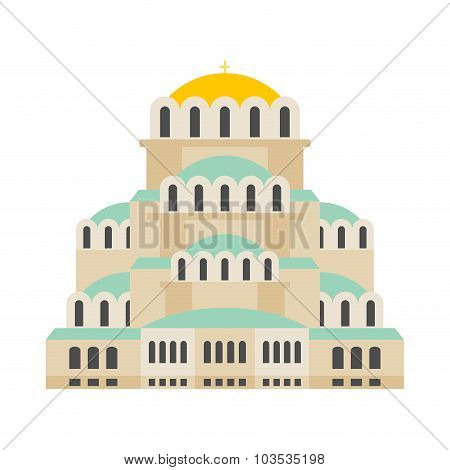 Church Of St. Alexander Nevsky. Patriarchal Cathedral Cathedral Bulgarian Orthodox Church. It Is Loc
