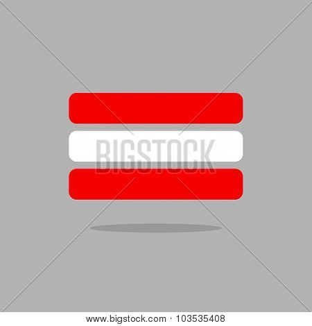 Austria Flag. Stylised Austrian Flag Of Geometrical Elements. Vector Illustration