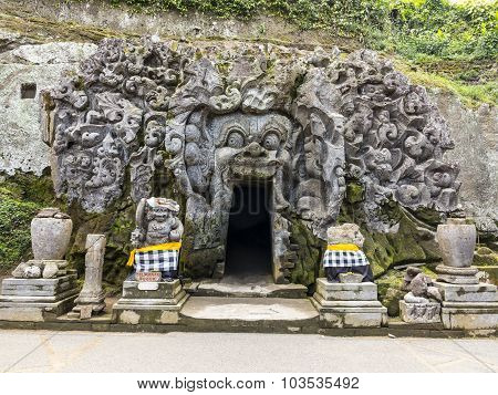 Cave Mouth At Goa Gajah Temple