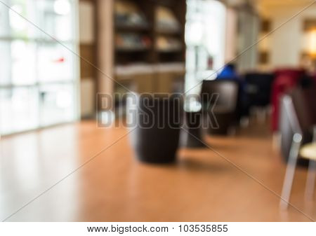 Abstract Blur Background Of Lobby In The Shopping Mall