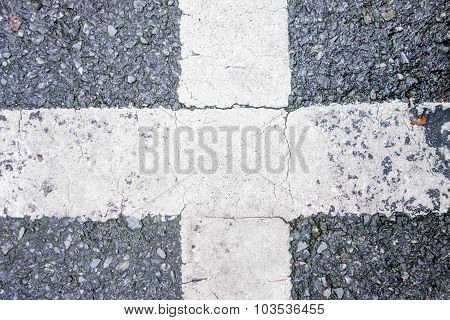 Road crossing texture