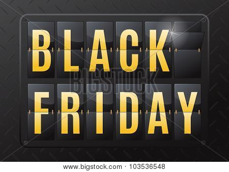 Black Friday Steel Flip Calendar.
