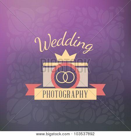 Photography Logo Design Template. Retro Vector Badge. Wedding Photography