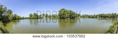 Panorama Of The Lake In Bad Nauheim