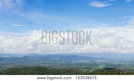 View Of The Majestic Clouds And Mountains In Thailand