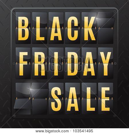 Black Friday Sale Steel Flip Calendar.