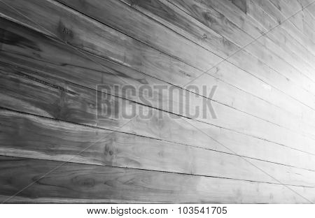 Abstract Wood Texture On Black And White Background