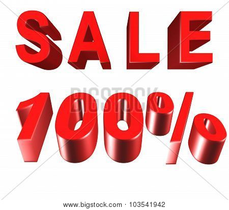 Sale - Price Reduction Of 100 Percent