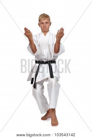 Boy Training Karate I