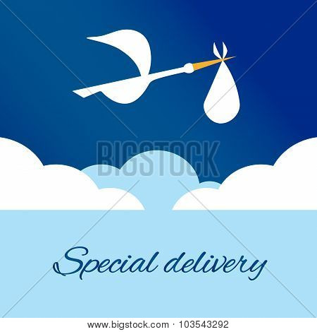 Logo Design Element Special Delivey