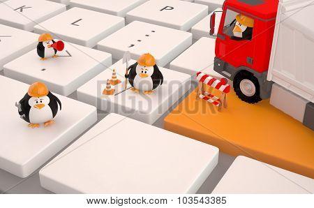 Computer Repair Service Concept.