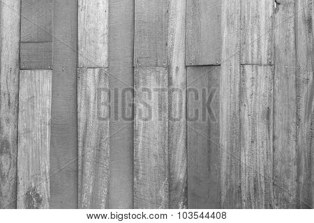 Wood Texture On Black And White Background