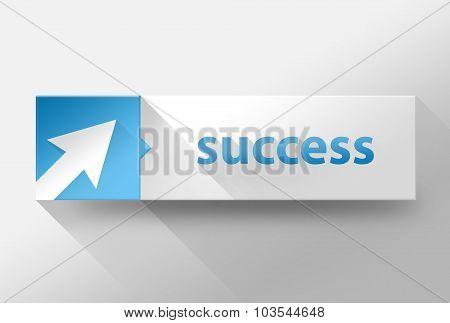 3D Business Success Flat Design, Illustration