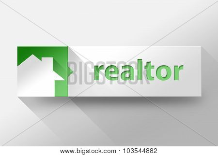 3D Realtor Flat Design, Illustration