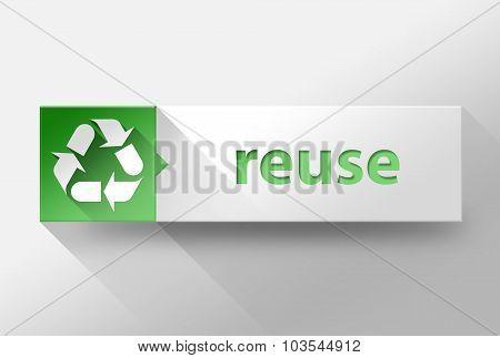 3D Reuce Flat Design, Illustration