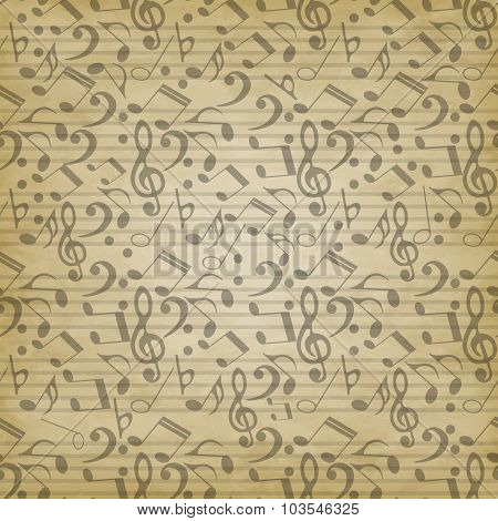 notes seamless pattern