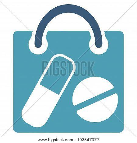 Drugs Shopping Bag Icon