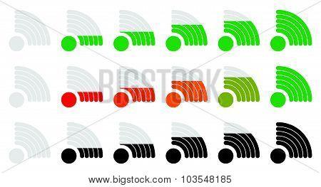 Signal Strength Indicator Set With Adjustable Opacity Mask.