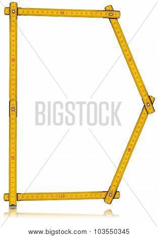 Font D - Old Yellow Meter Ruler