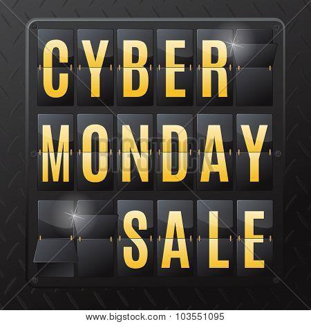 Cyber Monday Sale Steel Flip Calendar.