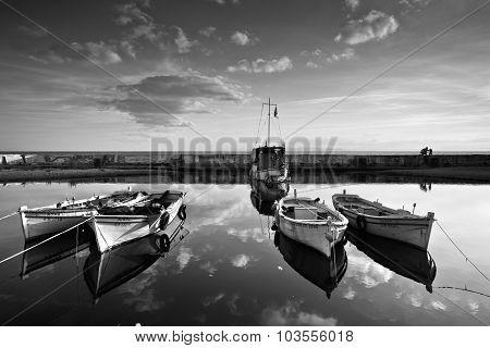 Boats in Palio Faliro, Athens.