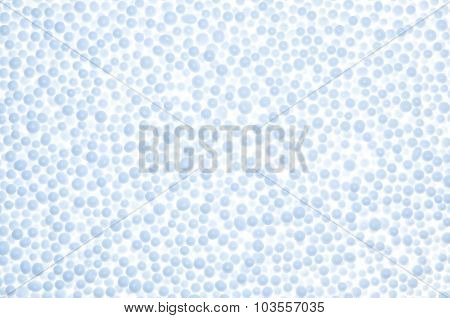 Abstract Background From Blue  Styrofoam Ball Texture