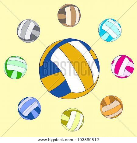 Surrounded volleyball