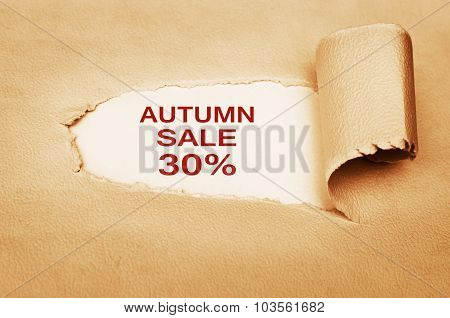 Autumn Sale Thirty Percent Off