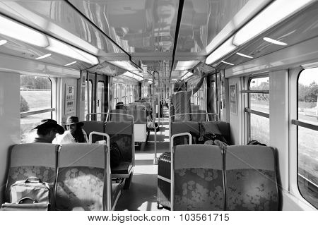 PARIS - AUGUST 08, 2015: Paris Metropolitain. The Paris Metro or Metropolitain is a rapid transit system in the Paris Metropolitan Area.
