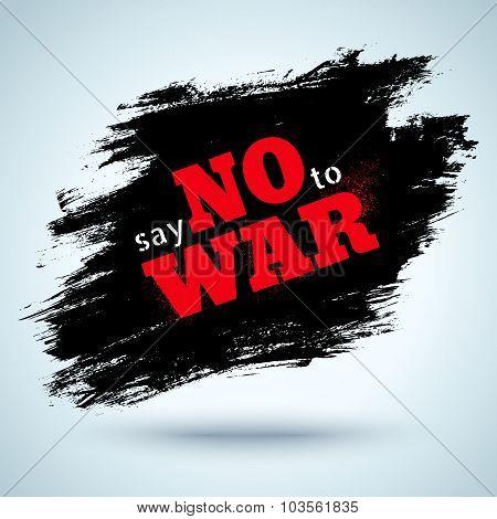 Say no to war