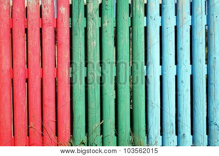 Multi coloured wooden stake background