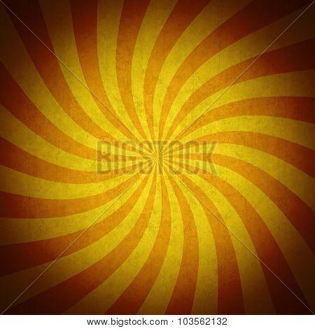 Colorful Orange Rays Grunge Vintage Background