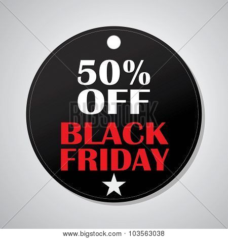 Black Friday label 50%