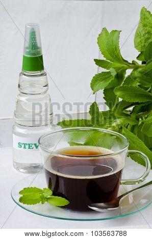 Stevia Drops. Natural Sweetener.