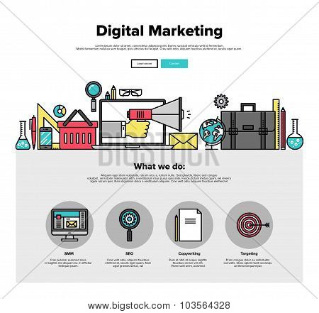Digital Marketing Flat Line Web Graphics