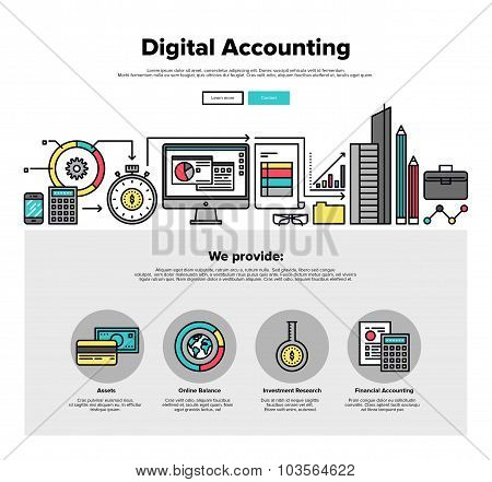 Digital Accounting Flat Line Web Graphics