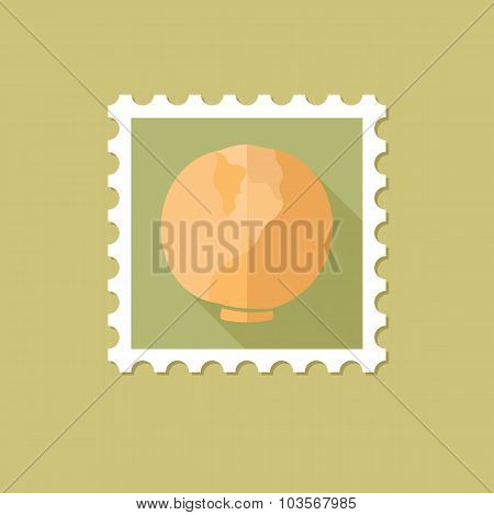 Cabbage flat stamp with long shadow