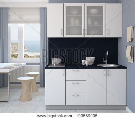 Modern Kitchen Interior.