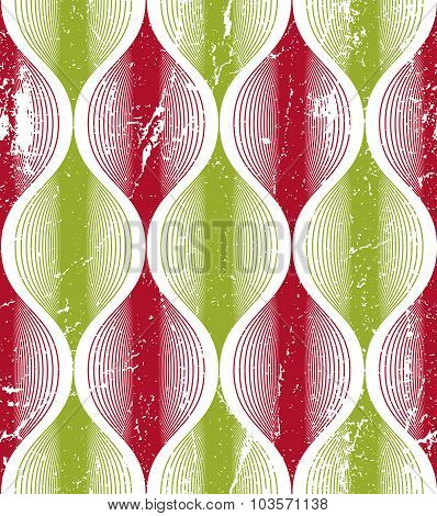 Seamless Wave Lines Pattern, Abstract Geometric Background, Vector Illustration.