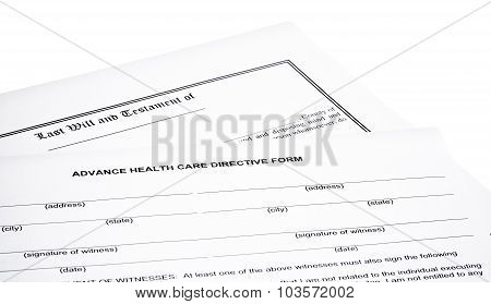 Last Will Medical Directive Tax Form