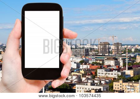 Smartphone With Cut Out Screen And Development