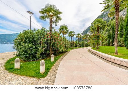 Scenery of Italy series - Riva del Garda. Lake Garda. Italy.