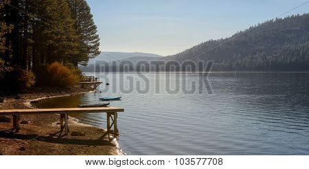 Beautiful Image Of Donner lake shoreline, late summer.