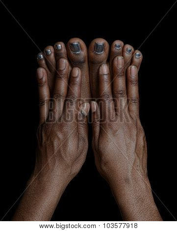 Beautiful , Very Interesting Image of Fingers and Toes.