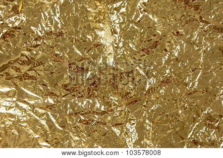 crumpled foil yellow