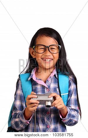Little Girl And Camera