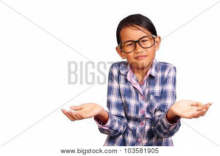 Little Girl With Shrug Gesture