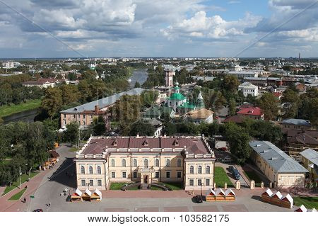 Vologda aerial view